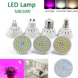 Led Lamp GU10 Bulb Full spectrum E27 E14 MR16 White 240V 5W 8W 10W Light Cup