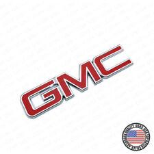 14-19 GMC Sierra Canyon Tailgate Letter Logo Emblem Adhesive Nameplate OEM Red