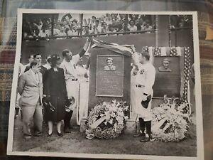 LOU GEHRIG YANKEE STADIUM 1941 MONUMENT PHOTO BABE RUTH  NEW YORK MLB BASEBALL