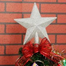 Weihnachtsbaumspitz Christbaumschmuck Sterne Kunstoff Glitzer baumspitze TOP20CM