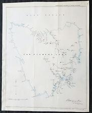 1846 Arrowsmith Rare Antique Convict Map of Van Diemens Land, Tasmania Australia