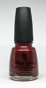 China Glaze Nail Polish Treat Me Like A Queen 165 Dark Shimmer Red Lacquer
