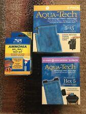 Aqua-Tech Power Aquarium Filter Fits 5 - 15 Power Filters 3 Pack Plus Bonus !