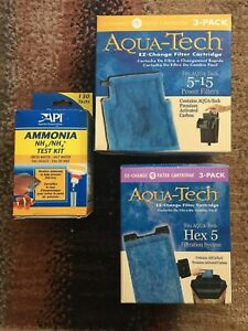 Aqua-Tech Power Aquarium Filter Fits 5 - 15 Power Filters 3 Pack Plus Bonus !