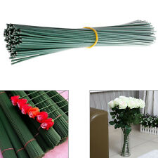 100x Green Artificial Flower Floral Tape Iron Wire Stub Stem Parts Accessory