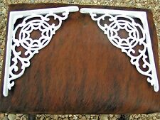 2 white Cast Iron Shelf Brackets