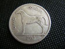 Ireland 1942 Silver Half Crown Coin Scarce Original Old Irish Vintage Horse Harp