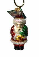 Old World Christmas Ornament, Merck Family's, Santa With Tree, 2003, New