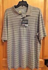 New with Tags Size L Eddie Bauer Travex Golf Shirt Gray Msrp $55 FreeDry Upf 50+