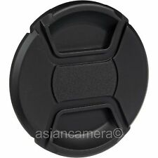 58mm Center Pinch Plastic Front Lens Cap Dust Cover 58 mm General Snap-on