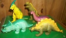 Vintage Definitely Dinosaurs Playskool Wendy's Collection Toys 1988 Set of 5
