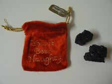 Roman YOU'VE BEEN NAUGHTY BAG OF CHRISTMAS COAL 2 Black Lumps Fabric Drawstring