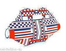 Alexander MCQUEEN 2014 Stampa Geometrica Raso De Manta CLUTCH BAG nuova con etichetta