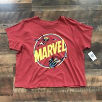 Marvel Comics Womens Short Sleeve Sleeve Red T-Shirt Size 2X XXL Mighty Fine