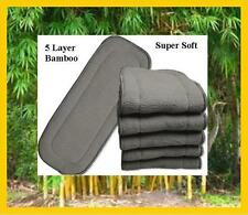 10 x Bamboo Charcoal Inserts / Boosters for Cloth Nappies - 35cm x 13.5cm
