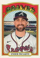 Ender Inciarte 2021 MLB Topps Heritage Baseball Base Card #374 Atlanta Braves