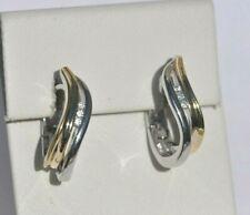 Echt 925 Sterling Silber Ohrringe  earrings vergoldet Hochzeit Nr 304