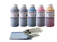 5x250ml refill ink for HP564 Photosmart 5510 5511 5512 5515 5520 5522 5525 6510