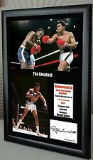 """Muhammad Ali """"The Greatest"""" Framed Canvas Print Signed """"Great Gift & Souvenir"""""""