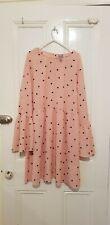 Baby Pink Polka Dot Long Sleeve Dress Size 24 Asos