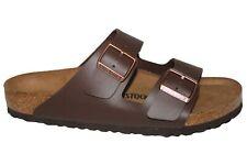 Mens Birkenstock Arizona Brown Mocha Leather 2 Buckle Summer Footbed Sandals