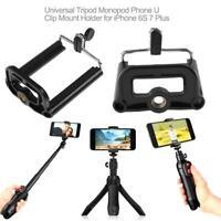 Universal Tripod Monopod Phone U Clip Mount Holder for iPhone 6S 7 Plus