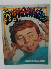 "DYNAMITE Magazine No. 47 ""Happy Birthday Mad!"" Baseball cards and Poster"