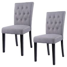 Set of 2 Fabric Dining Chair Armless Chair Home Kitchen Living Room Furniture