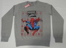 MARVEL SpiderMan Mens Ugly Christmas Sweater Pull Over M