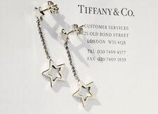 Tiffany & Co Argento Sterling Stella Collegamento Goccia Orecchini a Lobo