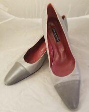 Susan Van Der Linde Couture Grey Leather Stiletto Heels France 41 Semelle Cuir