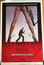 ROGER MOORE James Bond 007 POSTER original 1 SHEET ADVANCE SIGNED AUTOGRAPH JSA