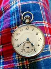 Top wind plated pocket watch working