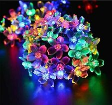 LED Solar Powered Fairy String Flower Lights Outdoor Garden Party Xmas Decor UK