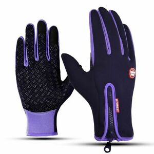 Men's Touch Screen Gloves Non-slip Warm Washable Riding Cycling Outdoor Mitten