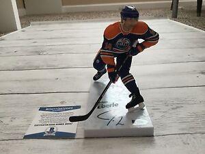 Jordan Eberle Signed Autographed Edmonton Oilers McFarlane Beckett BAS COA c
