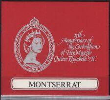 MONTSERRAT SG422/5 1978 CORONATION BOOKLET CONTAINING SHEETLETS MNH