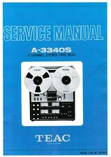 Service Manual-Anleitung für Teac A-3340 S