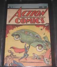 Superman ACTION Comics June 1938 #1 Nestles Ad Vintage Comic Books READ LISTING