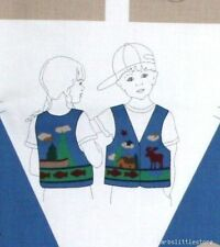 Adirondack Childs Vest 100% Cotton Fabric Sewing Material Panel XS S M L Cabin
