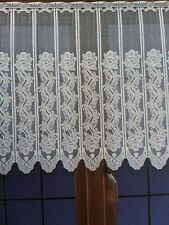 "CAFE NET CURTAIN, price per metre, drop 16"", 24"" or 31"" ready to hang up, White"