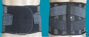 MEDICAL GRADE Lumbar Lower Back Support Belt Steel Bars 2 Colours Washable