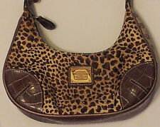 Womens-Small-Animal-Print-Purse-Liz-Claiborne-Studs-Sparkly-Cheetah-Leopard