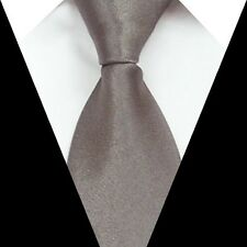 D.berite Gray Solid Silk formal wedding groom Men Party Tie Classic Necktie S21