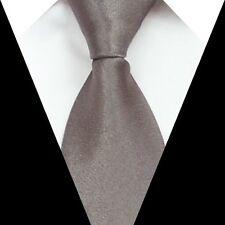 D.berite Gray Solid Silk formal wedding groom Men Party Tie Classic Necktie S21