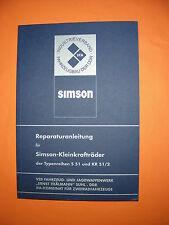 Reparaturanleitung pass.f. Simson S51, KR51/2 Schwalbe 4-Gang Handbuch