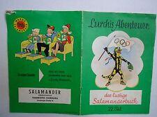 Lurchis Abenteuer 22. Teil 1960 Das lustige Salamanderbuch Lurchi Salamander