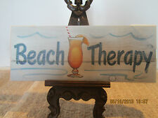 """Nautical, Wall Decor """"Beach Therapy"""" Sign"""