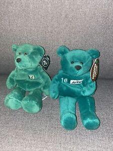 (2)Vinny Testaverde  Keyshawn Johnson New York Jets Collectible Beanie Bears Lot