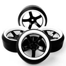 4PCS RC Drift Tires Wheel Rims For HPI HSP 1:10 On-Road Racing Car 12FM+PP0370